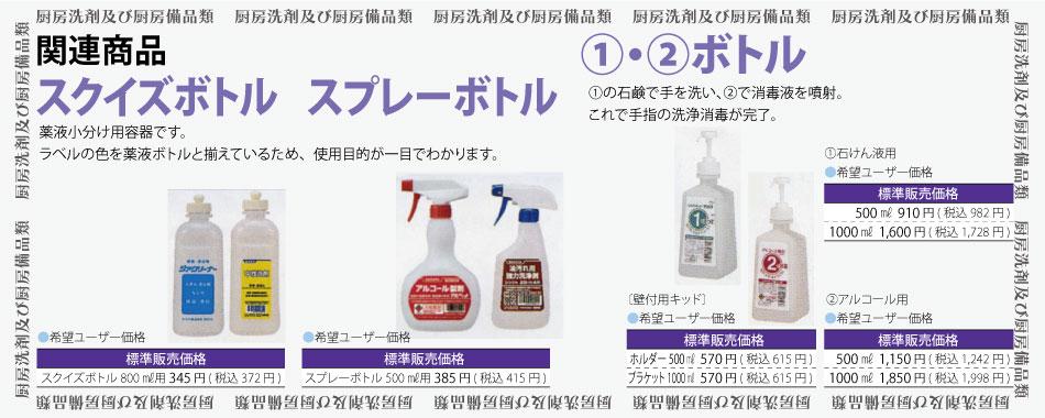 スクイズボトル&スプレーボトル&①・②ボトル